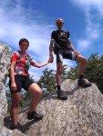 Titelbild des Albums: Bike and Hike auf den Donacka Gora im Süden Sloweniens, 891m hoch, die Heimat vom Carbondoctor;-) und an schönen Tagen vom Steinberg aus zu sehen