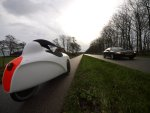 erste Panne - platter Reifen rechts vorne nach 166 km