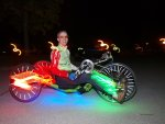 Liegerad Recumbent Velomobil night ride