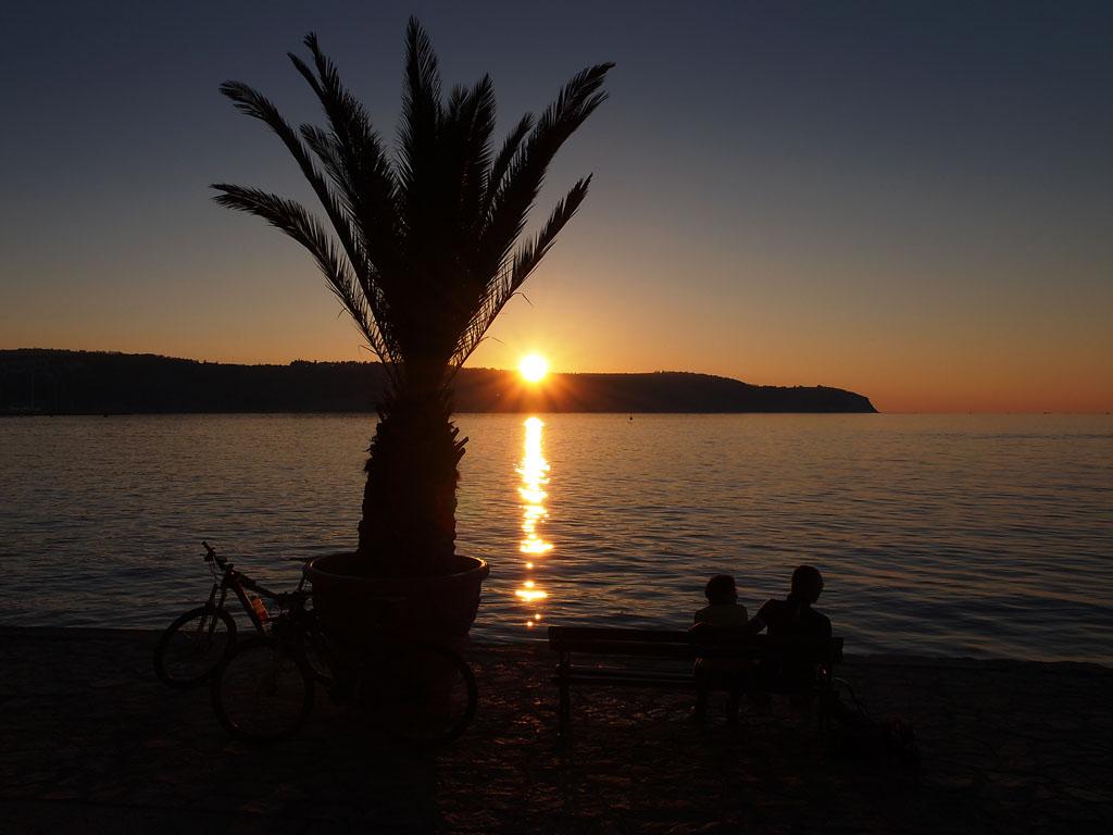 izola slovenija sunset